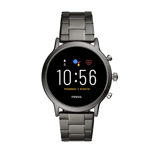 Fossil Gen 5 Carlyle Stainless Steel Touchscreen Smartwatch with Speaker, Heart Rate, GPS, Contactless Payments, and Smartphone Notifications