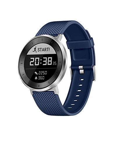 HUAWEI Fit Smart Fitness Watch Heart Rate and Sleep Monitor Waterproof Activity Tracker, Blue Sport Band, Large (US Warranty)