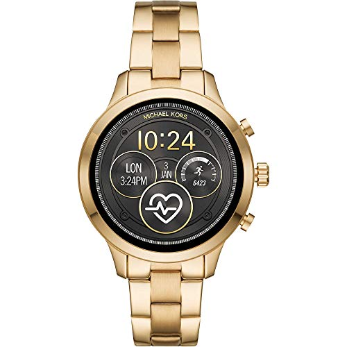 Michael Kors Women's Access Runway Stainless Steel Plated touchscreen Watch Strap, GoldTone, 18 (Model: MKT5045)
