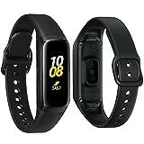 Samsung Galaxy Fit 2019, Smartwatch Fitness Band, Stress & Sleep Tracker, AMOLED Display, 5ATM Water Resistance, MIL-STD-810G, Bluetooth Active SM-R370 - International Version (Black)