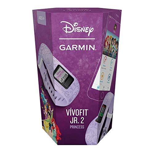 Garmin vivofit jr. 2, Kids Fitness/Activity Tracker, 1-year Battery Life, Adjustable Band, Disney Princess, Purple