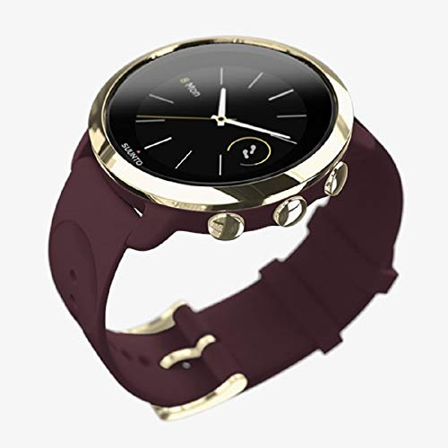 Suunto 3, Sports Watch with Wrist-Based Heart Rate, 24/7 Fitness Activity and Recovery Tracking - Burgundy