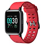 Willful Smart Watch for Android Phones Compatible iPhone Samsung IP68 Swimming Waterproof Smartwatch Sports Watch Fitness Tracker Heart Rate Monitor Digital Watch Smart Watches for Men Women Red