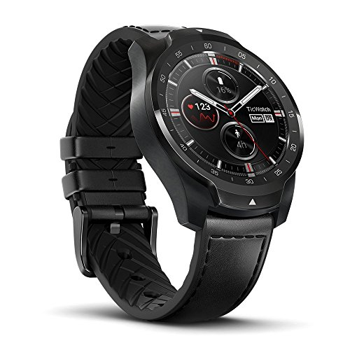 TicWatch Pro Premium Smartwatch with Layered Display for Long Battery Life, NFC Payment and GPS Build-in, Sleep Tracking, Wear OS by Google, Compatible with iOS and Android (Black)